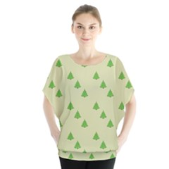 Christmas Wrapping Paper Pattern Blouse