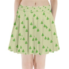 Christmas Wrapping Paper Pattern Pleated Mini Skirt