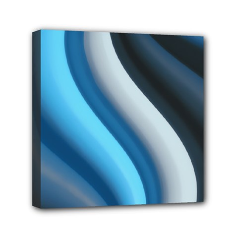 Abstract Pattern Lines Wave Mini Canvas 6  x 6