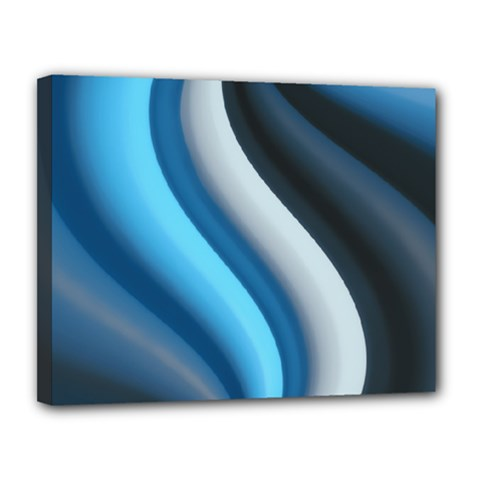 Abstract Pattern Lines Wave Canvas 14  x 11