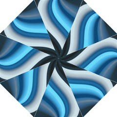 Abstract Pattern Lines Wave Golf Umbrellas