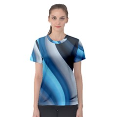 Abstract Pattern Lines Wave Women s Sport Mesh Tee