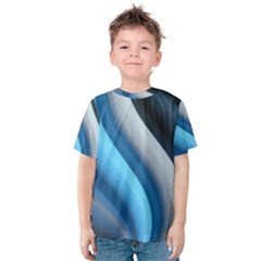 Abstract Pattern Lines Wave Kids  Cotton Tee
