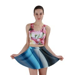 Abstract Pattern Lines Wave Mini Skirt