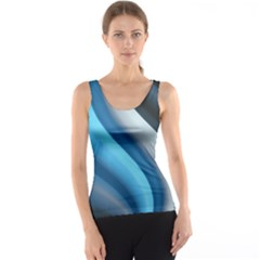 Abstract Pattern Lines Wave Tank Top