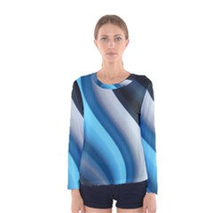 Abstract Pattern Lines Wave Women s Long Sleeve Tee
