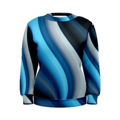 Abstract Pattern Lines Wave Women s Sweatshirt