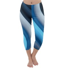 Abstract Pattern Lines Wave Capri Winter Leggings