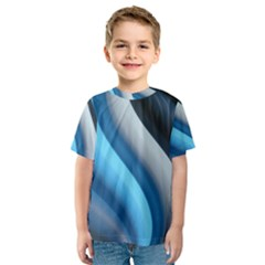 Abstract Pattern Lines Wave Kids  Sport Mesh Tee