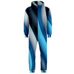 Abstract Pattern Lines Wave Hooded Jumpsuit (Men)