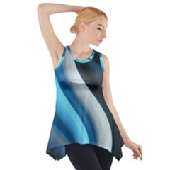 Abstract Pattern Lines Wave Side Drop Tank Tunic