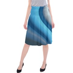 Abstract Pattern Lines Wave Midi Beach Skirt