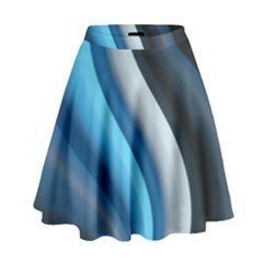 Abstract Pattern Lines Wave High Waist Skirt