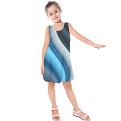Abstract Pattern Lines Wave Kids  Sleeveless Dress
