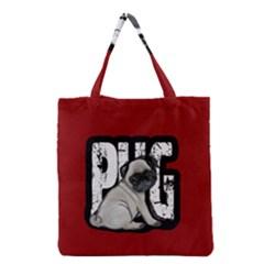 Pug Grocery Tote Bag