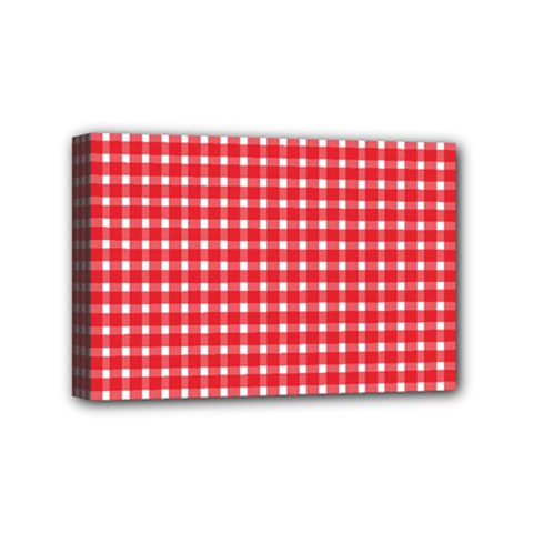 Pattern Diamonds Box Red Mini Canvas 6  x 4
