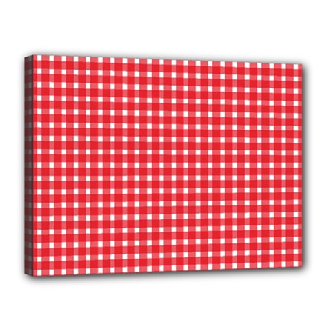 Pattern Diamonds Box Red Canvas 16  x 12