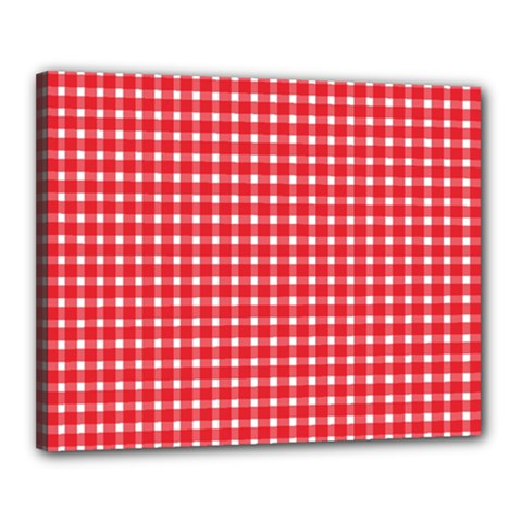 Pattern Diamonds Box Red Canvas 20  x 16