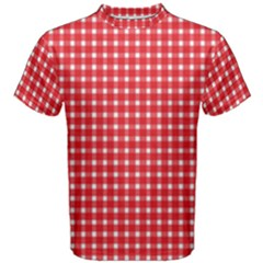 Pattern Diamonds Box Red Men s Cotton Tee