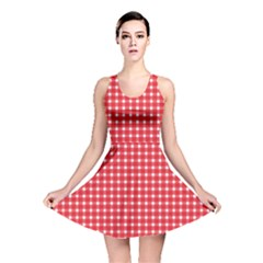 Pattern Diamonds Box Red Reversible Skater Dress