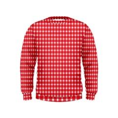 Pattern Diamonds Box Red Kids  Sweatshirt