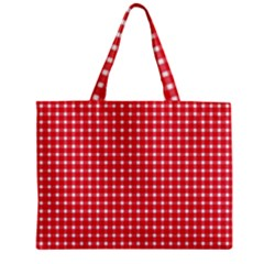 Pattern Diamonds Box Red Zipper Mini Tote Bag