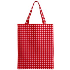Pattern Diamonds Box Red Zipper Classic Tote Bag