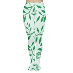 Leaves Foliage Green Wallpaper Women s Tights
