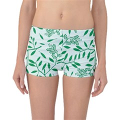Leaves Foliage Green Wallpaper Boyleg Bikini Bottoms