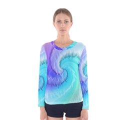 Background Colorful Scrapbook Paper Women s Long Sleeve Tee