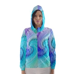 Background Colorful Scrapbook Paper Hooded Wind Breaker (women)