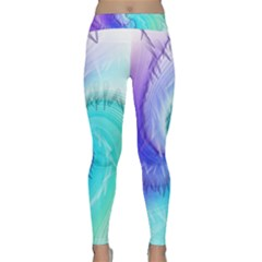 Background Colorful Scrapbook Paper Classic Yoga Leggings