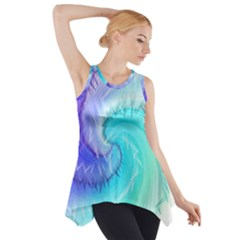 Background Colorful Scrapbook Paper Side Drop Tank Tunic