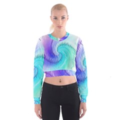 Background Colorful Scrapbook Paper Cropped Sweatshirt