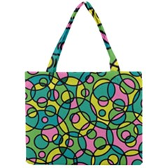 Circle Background Background Texture Mini Tote Bag