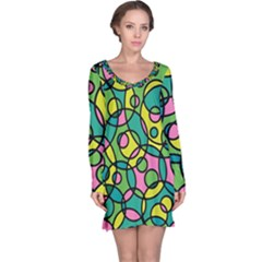 Circle Background Background Texture Long Sleeve Nightdress