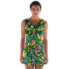 Circle Background Background Texture Wrap Front Bodycon Dress