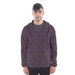 Pattern Background Star Hooded Wind Breaker (Men)