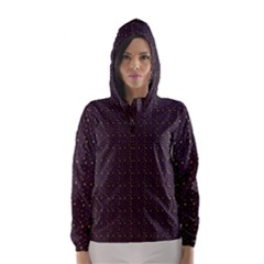 Pattern Background Star Hooded Wind Breaker (women)