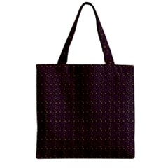 Pattern Background Star Zipper Grocery Tote Bag