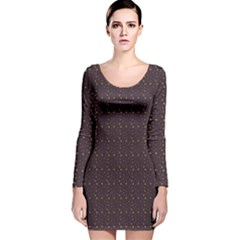 Pattern Background Star Long Sleeve Velvet Bodycon Dress