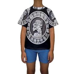 Pattern Motif Decor Kids  Short Sleeve Swimwear
