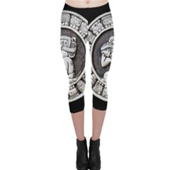 Pattern Motif Decor Capri Leggings