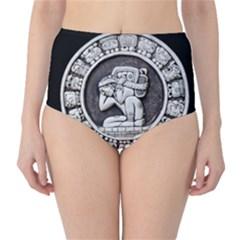 Pattern Motif Decor High-Waist Bikini Bottoms