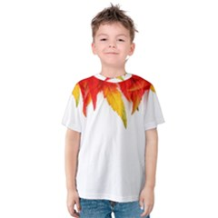 Abstract Autumn Background Bright Kids  Cotton Tee