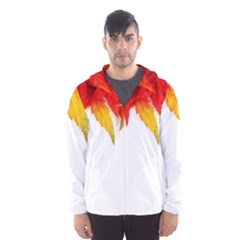 Abstract Autumn Background Bright Hooded Wind Breaker (men)