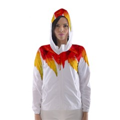 Abstract Autumn Background Bright Hooded Wind Breaker (women)