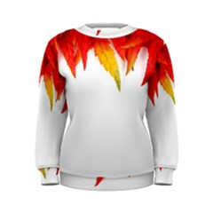Abstract Autumn Background Bright Women s Sweatshirt