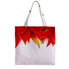 Abstract Autumn Background Bright Zipper Grocery Tote Bag