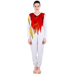 Abstract Autumn Background Bright Onepiece Jumpsuit (ladies)